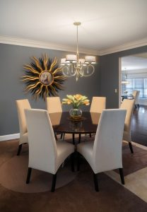 dining room teal